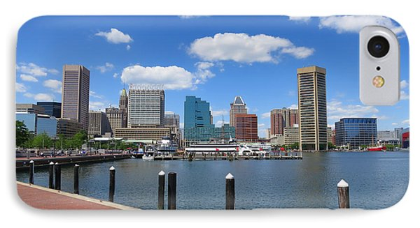 Baltimore Inner Harbor Phone Case by Olivier Le Queinec