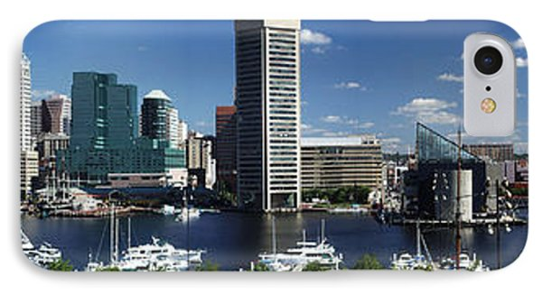 Baltimore Inner Harbor Panorama IPhone Case by Bill Swartwout
