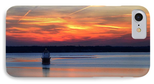 Baltimore Light At Gibson Island IPhone Case by Bill Swartwout