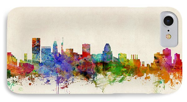 Baltimore Maryland Skyline IPhone Case by Michael Tompsett