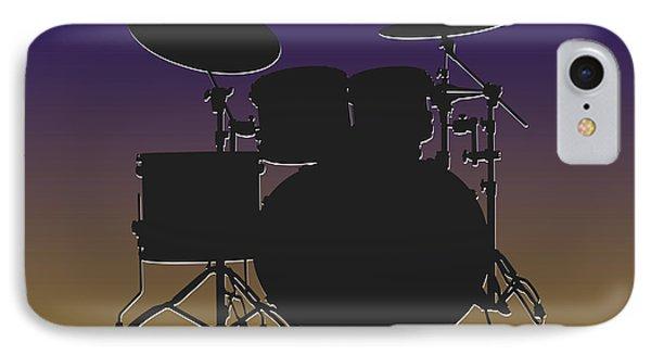 Baltimore Ravens Drum Set IPhone 7 Case by Joe Hamilton