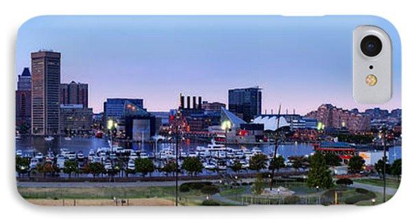 Baltimore Skyline Panorama At Twilight IPhone Case by Susan Candelario