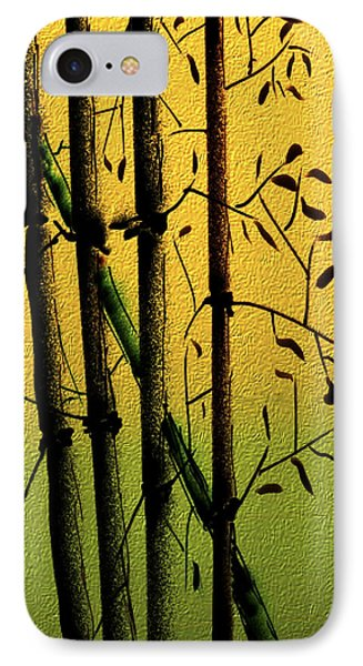 IPhone Case featuring the digital art Bamboo 1 by Dale Stillman