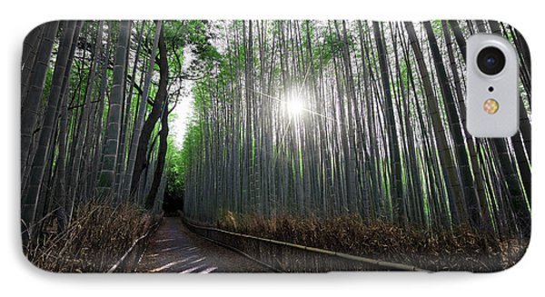 Bamboo Forest Path Of Kyoto IPhone Case
