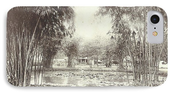 Bamboo Garden And Pond With A House, Anonymous IPhone Case by Artokoloro