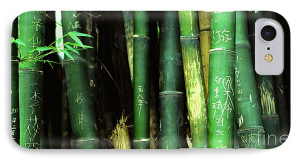 Bamboo Graffiti Pano - Sichuan Province Phone Case by Anna Lisa Yoder