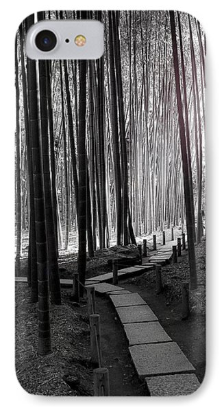 IPhone Case featuring the photograph Bamboo Grove At Dusk by Larry Knipfing
