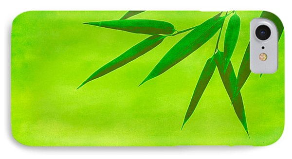 Bamboo Leaves Phone Case by Hannes Cmarits