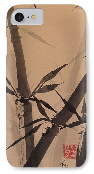 Bamboo Study #1 On Tagboard IPhone Case by Robin Miller-Bookhout