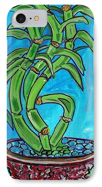 Bamboo Twist IPhone Case by Ecinja Art Works
