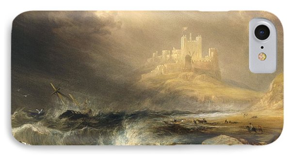 Bamborough Castle IPhone Case by William Andrews Nesfield