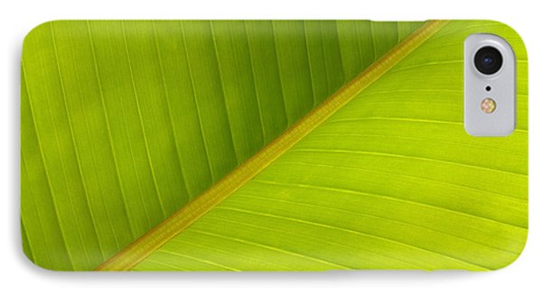 Banana Leaf Diagonal Pattern Close-up Phone Case by Anna Lisa Yoder
