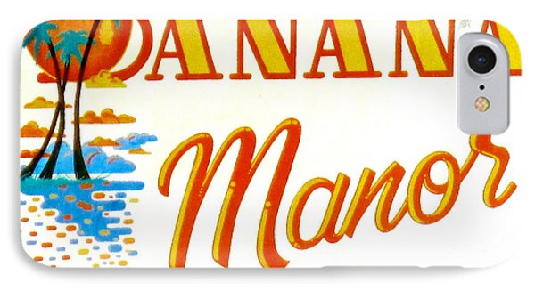 Banana Manor IPhone Case by Jeff Gater