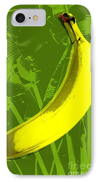 Banana Pop Art IPhone Case by Jean luc Comperat