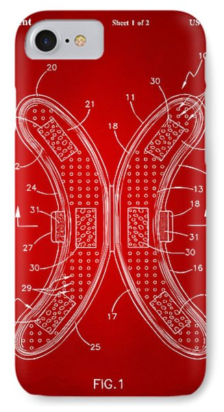 Banana Protection Device Patent Red IPhone Case by Nikki Marie Smith