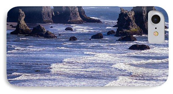 Bandon Beach Seastacks 6 Phone Case by Tracy Knauer