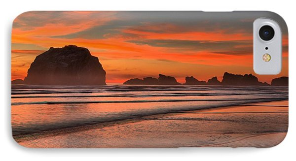 Bandon Sunset And Surf Phone Case by Adam Jewell