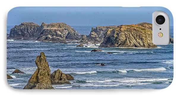 IPhone Case featuring the tapestry - textile Bandon Beach Landscape by Dennis Bucklin