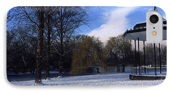 Bandstand In Snow, Regents Park IPhone Case by Panoramic Images