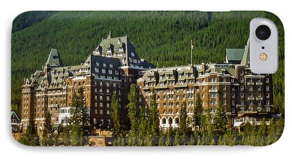 Banff Springs Hotel IPhone Case by Richard Farrington