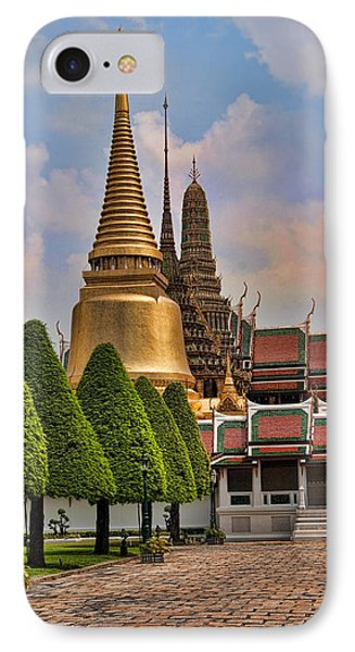 Bangkok Palace Temple 3 IPhone Case by David Smith
