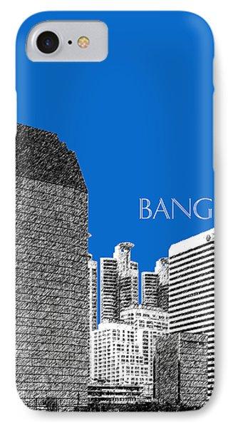 Bangkok Thailand Skyline 2 - Blue Phone Case by DB Artist