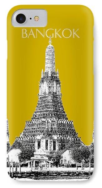 Bangkok Thailand Skyline Wat Arun - Gold IPhone Case