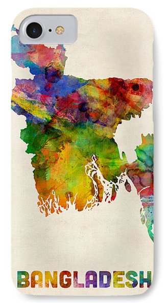 Bangladesh Watercolor Map IPhone Case