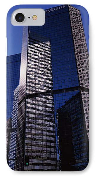 Bank Building In A City, Key Bank IPhone Case by Panoramic Images