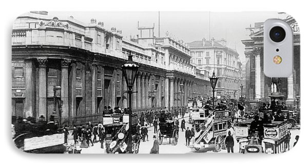 Bank Junction Horse-drawn Traffic IPhone Case by Library Of Congress