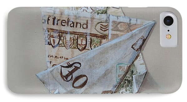 IPhone Case featuring the painting Bank Of Ireland Ten Pound Banknote by Barry Williamson