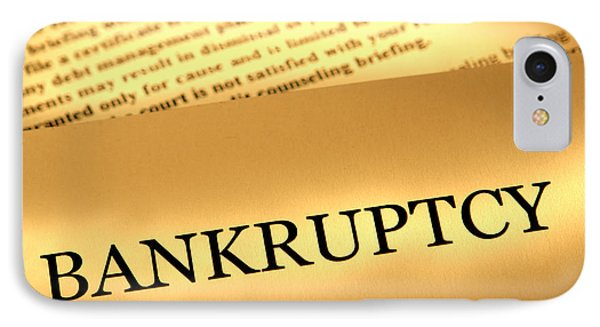 Bankruptcy Notice IPhone Case