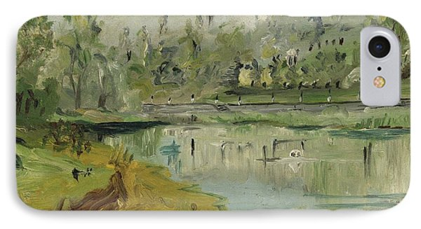 Banks Of The Saone River - Orig. Sold Phone Case by Bernard RENOT