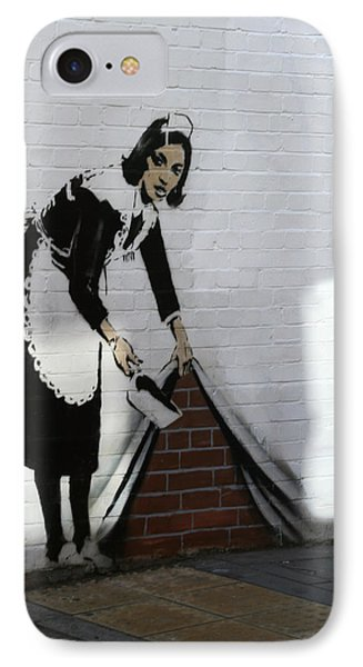 Banksy Maid Phone Case by A Rey