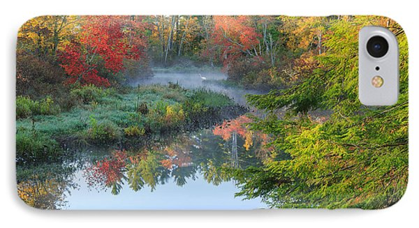 Bantam River Autumn IPhone Case by Bill Wakeley
