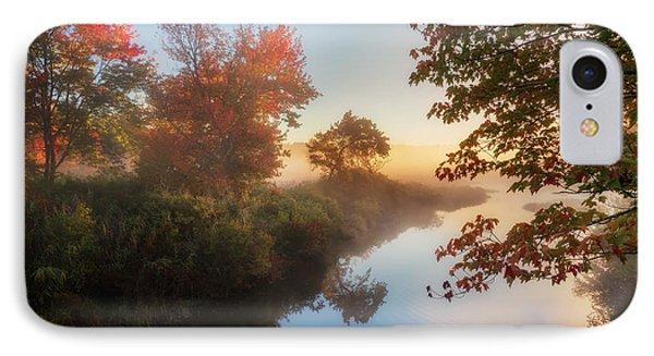 Bantam River Sunrise Phone Case by Bill Wakeley