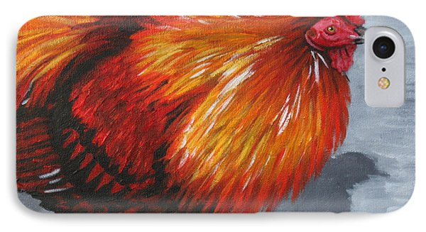 Bantam Rooster 2 IPhone Case by Penny Birch-Williams