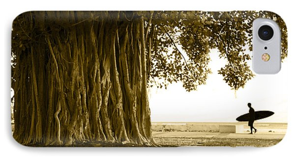 Banyan Surfer IPhone Case by Sean Davey