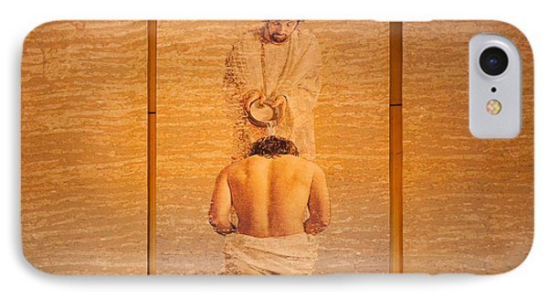 Baptism Of Jesus By Saint John The Baptist - Cathedral Of Our Lady Of The Angels Los Angeles IPhone Case by Ram Vasudev