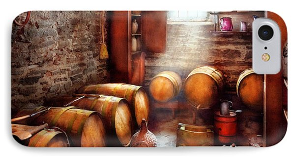Bar - Wine - The Wine Cellar  Phone Case by Mike Savad