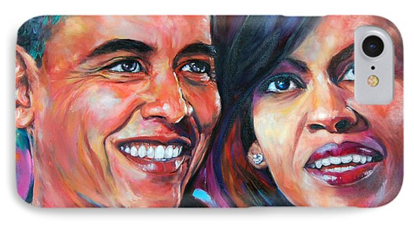 Barack And Michelle Obama IPhone Case by Anju Saran