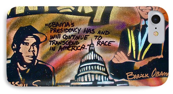 Barack And Russell Simmons IPhone Case by Tony B Conscious