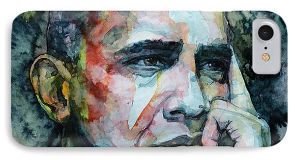 Barack IPhone Case by Laur Iduc