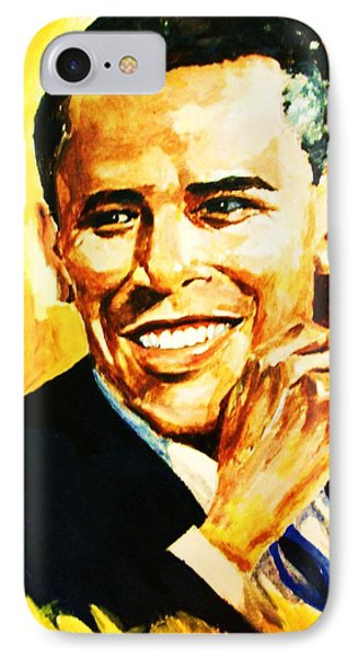 IPhone Case featuring the painting Barack Obama by Al Brown