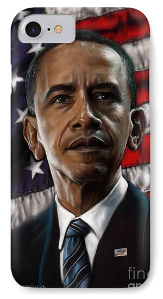 Barack Obama IPhone Case by Andre Koekemoer