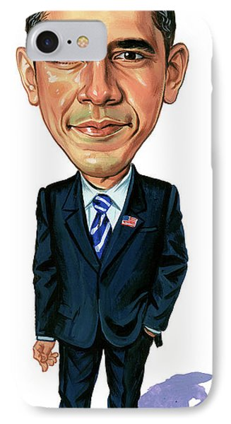 Barack Obama IPhone 7 Case by Art