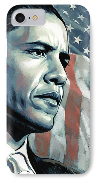 Barack Obama Artwork 2 B IPhone 7 Case by Sheraz A