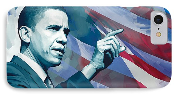 Barack Obama Artwork 2 IPhone 7 Case by Sheraz A