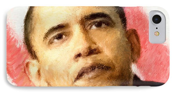 Barack Obama Impressionist Style IPhone Case