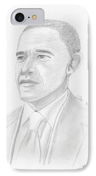Barack Obama IPhone Case by M Valeriano